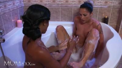 Ebony Angel Lola Marie Lesbian Bath Play with MILF Terra Twain