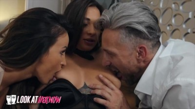 Hot Maid Liya Silver Sharing Cock with Alyssia Kent in 3some