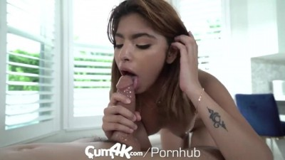 Pulsating Step Sister Pussy Filled with Multiple Oozes Creampies