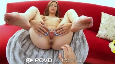 Gorgeous Brunette Grinds Hard on Big Cock