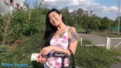 Asian MILF Barmaid Flashes her Cute Mom Boobs