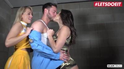 Abella Danger and Zoe Monroe PAWG American Sluts Fuck Prison Guard