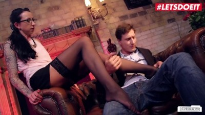 Stella Star German MILF Boss Sucks and Fucks Lucky Guy during Interview