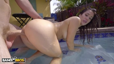 Insanely Beautiful PAWG Eva Lovia getting Dick in the Pool