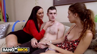 Stepmom Bianca Breeze Threesome with Step Daughter Jade Nile