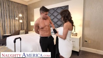 Alexis Fawx Tips Bell Boy with Pussy
