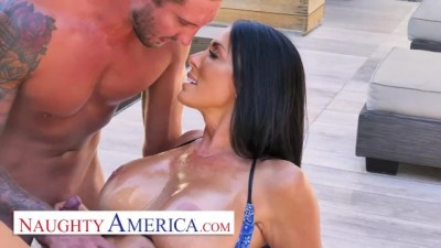 Sharon Fuller (Reagan Foxx) Fucks by the Pool