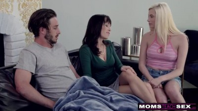 Needy Mom uses Step Sons Cock and Shares with his Step Sis