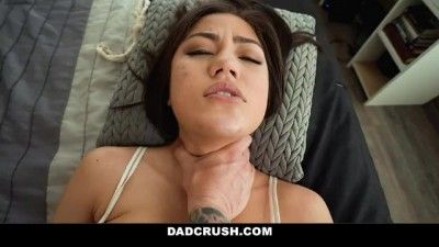 Step Daughter Shows Love by Sucking and Riding Step-Dads Cock