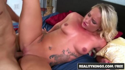 Inked Young Cali Carter Rides Cock - Anybunny