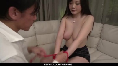 Rie Tachikawa Sits Tied up and with Dick up her on JavHD Net