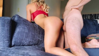 Fit Couple Fucking on the Couch - ShemaleHD