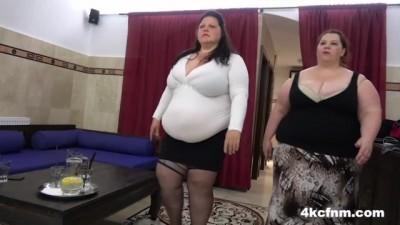 Supersized BBW Hurricanes Sharing Skinny Cock