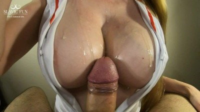 Busty Nurse Helps Patient with a Hard Boner using her Big Boobs