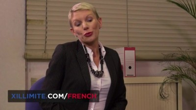 French Mature Anal Fucked in the Office