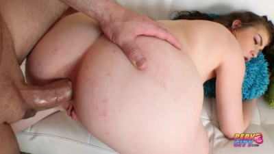 First Anal for Cute Remy Rayne and Anal Creampie
