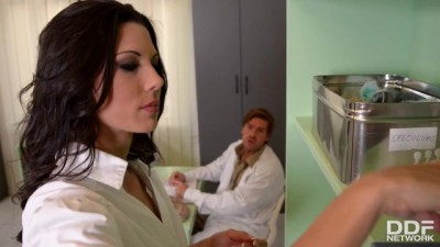 Hardcore Anal Sex Threesome with Nurse Alexa Tomas
