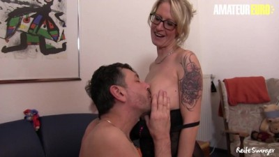 Huge Tits German Mature Housewife Kinky Surprise for her Neighbour