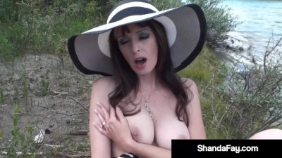 Sexy Sunny Shanda Fay Pounds her Wet Pussy Riverside!