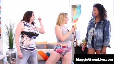 All Pussy Fuck Fest with Maggie Green Sara Jay & Jenna Foxx!