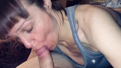 Granny sure Loves Sucking Cock! Listen to how Happy