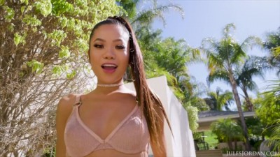 Asian Supermodel Vina Sky Takes it up the Ass
