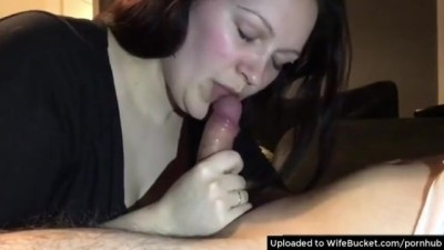 Skilful MILF knows how to Tug Hubbys Dick until it Erupts
