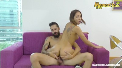 Colombian Street Vendor Picked up to get Oiled and Fucked