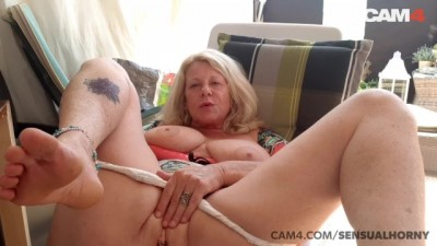 Mature 50 Year old MILF Squirts all over her Dildo