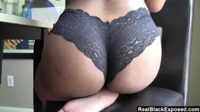 Amazing Ebony Slut Shows off her Phat Ass