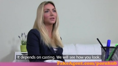 Stunning Blonde Fashion Student Fucks in Casting