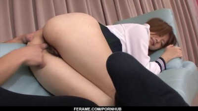 Noriko Kago Gets Cock to Damage both her Hairy Holes