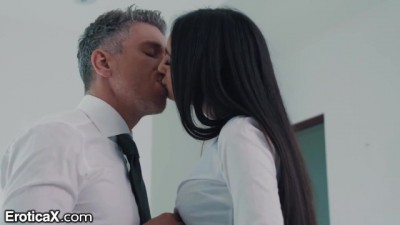 Sexy Latina Eliza Ibarra Passionate Affair with Boss