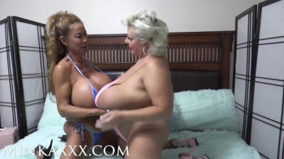 Huge Fake Tit Bonanza Minkaxxx and Claudia Marie