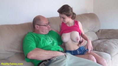 Tight Young Cunt Destroyed by Stepdad
