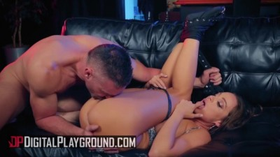 Biker Babe Abigail Mac Gets Face Fucked