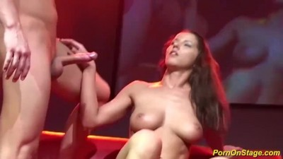 MILF Big Cock Fucked on Public Stage