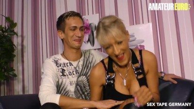 Super Hot German MILF makes a SEX TAPE with her STEP SON