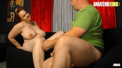 Slutty German Chubby Wife Fucked Hard on the Couch