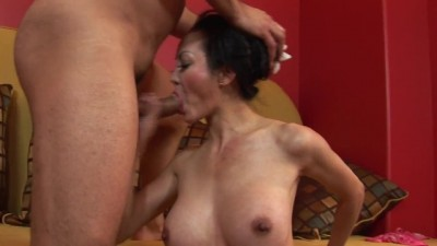 Busty Japanese Hottie Moans while her Tender Ass is Drilled