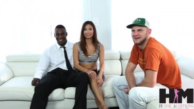 Hussie Auditions: Latina Brunette Takes her first BBC