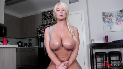 Interview with Busty Blonde MILF London River