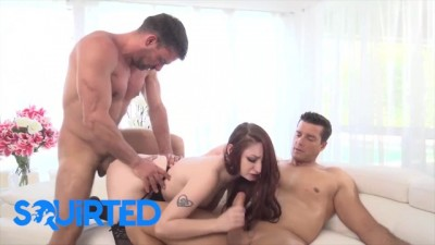 Dirty Violet Monroe Takes on two Cocks and Squirts in Hardcore Threesome