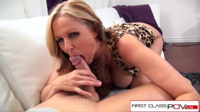 Julia Ann take a Monster Cock in her Throat, Big Boobs