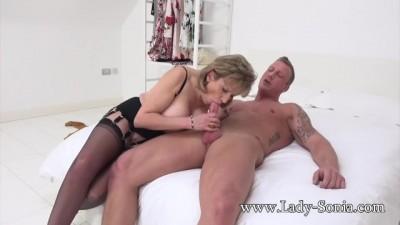 Lady Sonia Gets Ed into Riding Cock Bareback