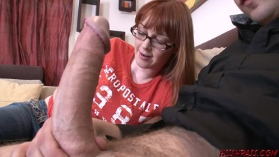 Hot Redhead Marie McCray Takes a Big Thick Cock