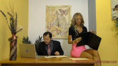 Barbie Doll Secretary Dominates her Boss