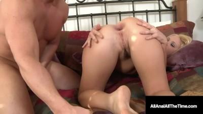 Sweet Teen Blonde Roxy Raye Gets Ass Rimmed & Anal Wrecked!