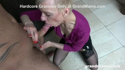 Hot Granny Rimming in the Locker Room