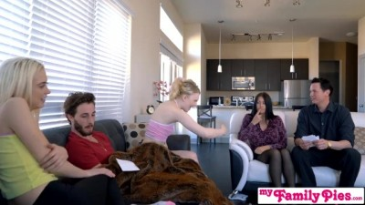 StepBro Almost Caught Fucking His Teen Sisters